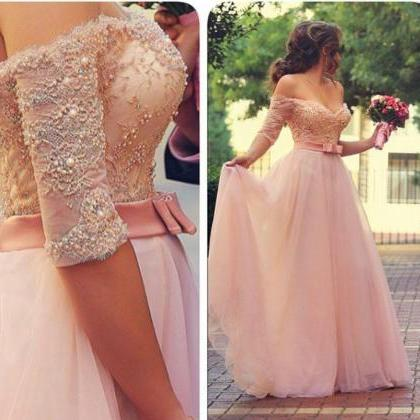 A-Line Prom Dresses ,Pink Prom Dres..