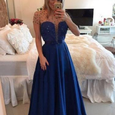 Sexy Tulle Prom Dresses,Royal Blue ..
