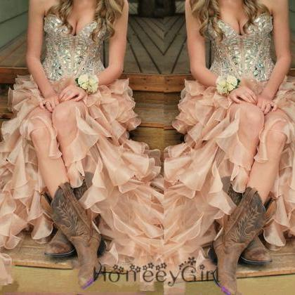 Prom Dress,Sequin Prom Dress,Countr..