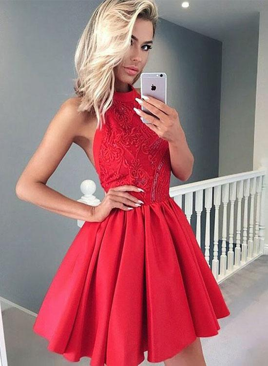 Red Short Prom Dress, Homecoming Dress,Party Dress,Graduation Dress,A-Line Prom Dresses,Cheap Prom Dress