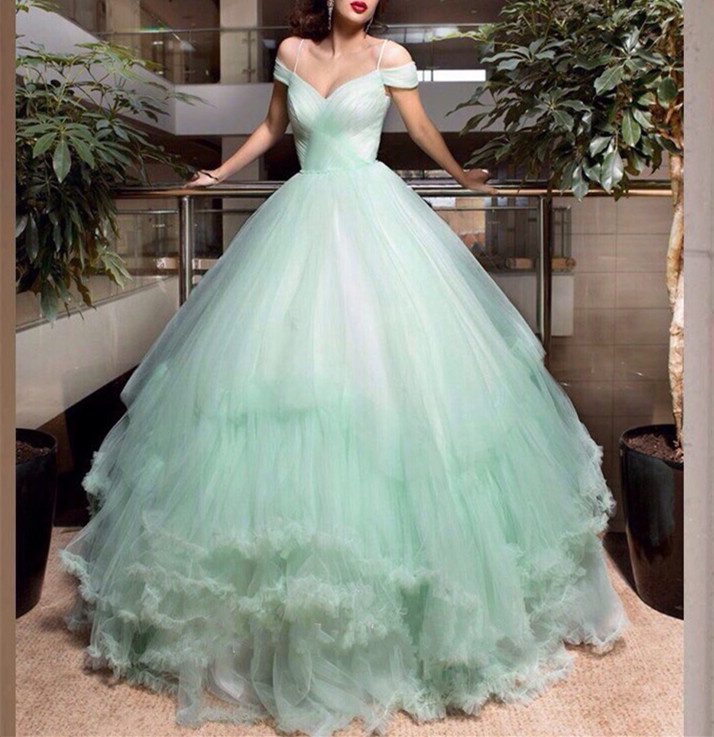 Weddings Wedding Dress,Mint Green Wedding Dress, Princess Wedding ...