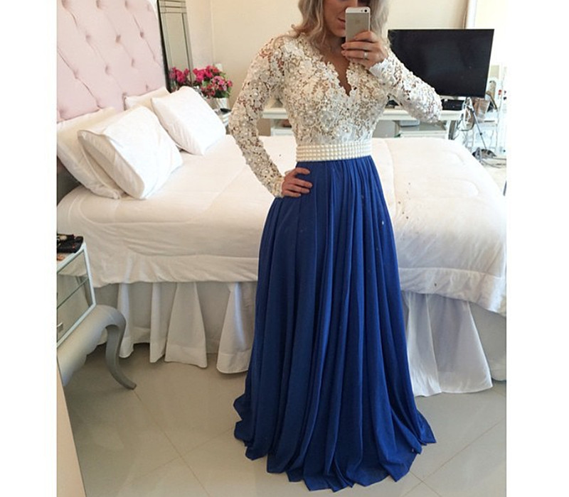 Prom Dresses,Long Sleeve Prom Dresses,Discount Prom Dresses,Beaded Prom Dresses,Cheap Prom Dresses,Prom Dresses with Pearls Belt,Handmade Prom Dresses,Evening Dresses,Dresses for Prom