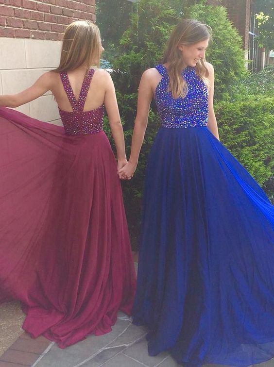 High Quality Prom Dress,Royal Blue Prom Dress,Long Prom Dress With Beaded,A Line Evening Dress,Prom Party Dress,Formal Dress For Wedding