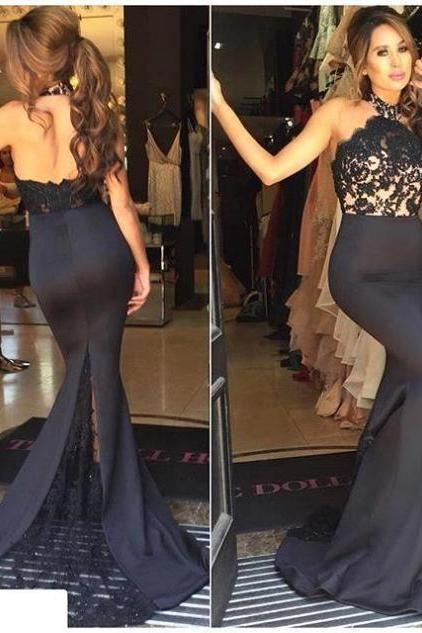 New Arrival Women Dress,fashion Prom Dresses, Black Prom Dress,Lace Prom Dresses,Sexy Prom Dress