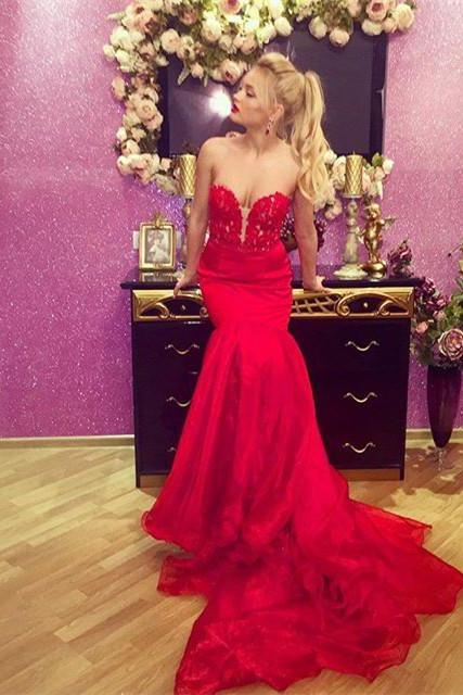 Gorgeous Red Prom Dresses,Prom Dresses,Red Prom Gown,Prom Gowns,Elegant Evening Dress,Modest Evening Gowns,Simple Party Gowns