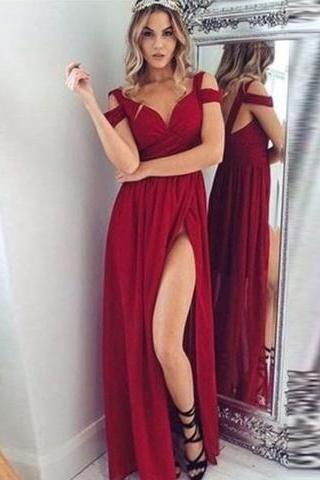 Hot Red Prom Dress,Long Prom Dress,Prom Dresses, Long Prom Dress, Red Prom Dress Party Gown,Spaghetti Straps Evening Dresses,Floor Length Formal Gown