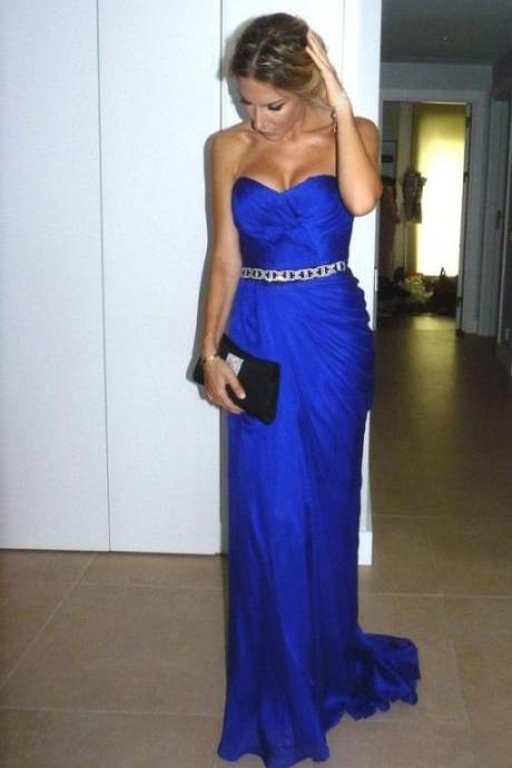 Sexy Sweetheart evening dress,Evening Dresses,Prom Gowns,Royal Blue Prom Dresses,Royal Blue Prom Dress,Beading Formal Gown,Beading Prom Dresses