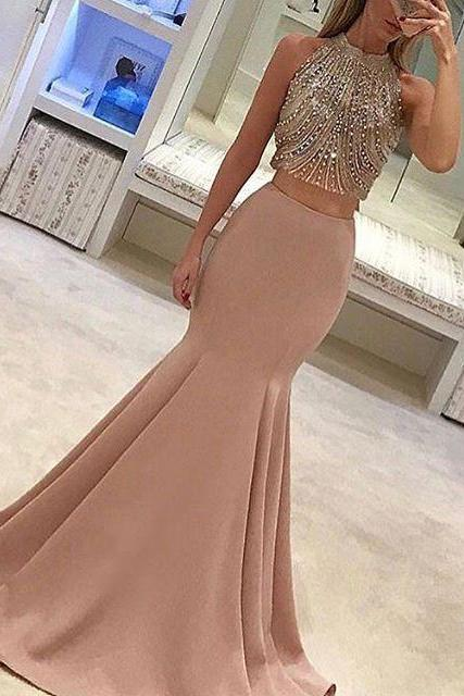 Pink Prom Dress,Prom Gowns, Pink Prom Dresses,Long Prom Gown,Prom Dress,Sparkle Evening Gown,Sparkly Party Gowbs