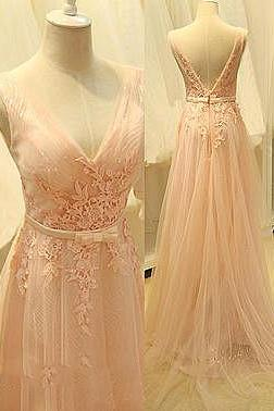 Lovely Evening Dresses, Prom Dresses,Party Dresses,Prom Dresses,Pink Prom Dresses,Blush pink lace Prom Dress,Prom Gown,Pink Prom Gown,Elegant Evening Dress,Evening Gowns,Party Gowns