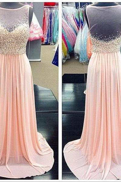 Chiffon Prom Dresses,Pink Prom Dresses,Pink Evening Gowns,Simple Formal Dresses,Prom Dresses,Teens Fashion Evening Gown