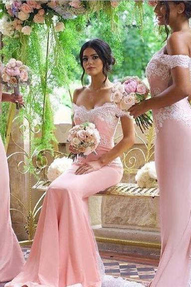 Bridesmaid Dresses, 2017 Blush Pink Bridesmaid Dresses,Pink Wedding Dresses, Lace Prom Dress, Vestido Mae Da Noiva, Mermaid Formal Gowns,Pink Evening Dresses,Blush Pink Prom Dresses,Sexy Bridesmaid Dresses
