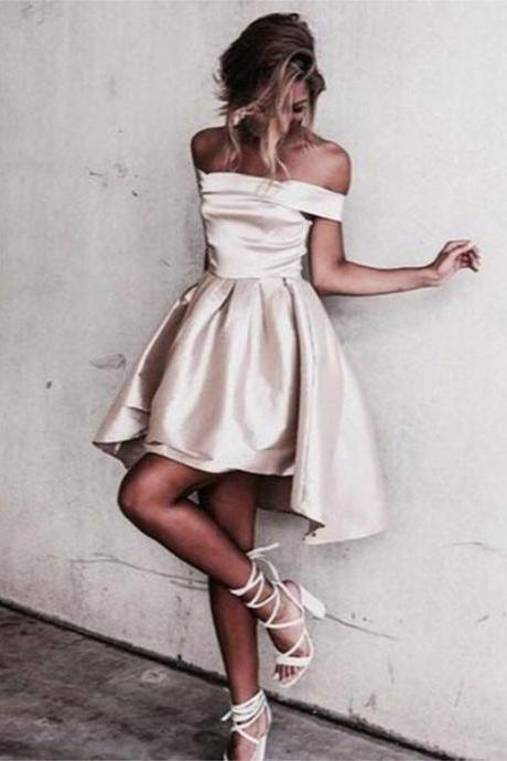 Cute A Line Off Shoulder Short Prom Dress, Homecoming Dresses,Party Dress,Graduation Dress,A-Line Prom Dresses,Cheap Prom Dress