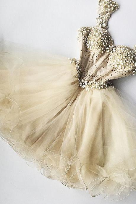 Charming Homecoming Dress,Beading Homecoming Dress,Organza Homecoming Dress, Short Homecoming Dress,Party Dress,Graduation Dress,A-Line Prom Dresses,Cheap Prom Dress