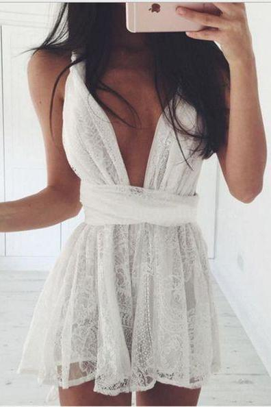 Lace Short Homecoming Dress, Party Dress,Graduation Dress,A-Line Prom Dresses,Cheap Prom Dress