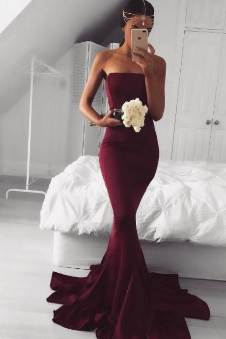 Hot Burgundy Prom Dress,Fashion Prom Dress,Sexy Party Dress,Custom Made Evening Dress,Long Prom Dress,Prom Dres