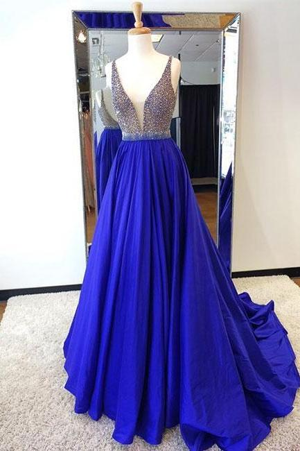 Ball Gown Satin Appliques Elegant Prom Dress,Long Prom Dresses,Prom Dresses,Evening Dress, Evening Dresses,Prom Gowns, Formal Women Dress