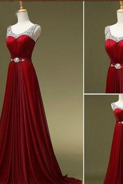 Custom Sexy Red Long Prom Dress, Prom Dress 2016,Homecoming Dress, Evening Dress, Party Dress, Wedding Dress, Bridesmaid Dress