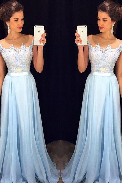 High Quality Prom Dress,chiffon prom dress,A-Line Prom Dress,Charming Prom Dress,Appliques Prom Dress,prom dress 2016,Luula Fashion dress