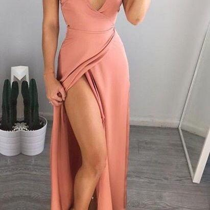 Pink Formal Dresses,Blush pink Prom Dress,Prom Gown,Pink Prom Gown,Elegant Evening Dress,Evening Gowns,Party Gowns