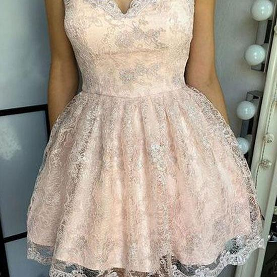 Cute Lace Short Prom Dress, Homecoming Dress,Party Dress,Graduation Dress,A-Line Prom Dresses,Cheap Prom Dress